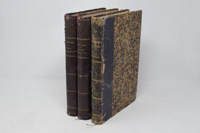 Lot de trois ouvrages de Jules VERNE comprenant...