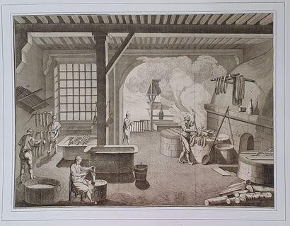11 planches de l'Encyclopédie par le graveur...