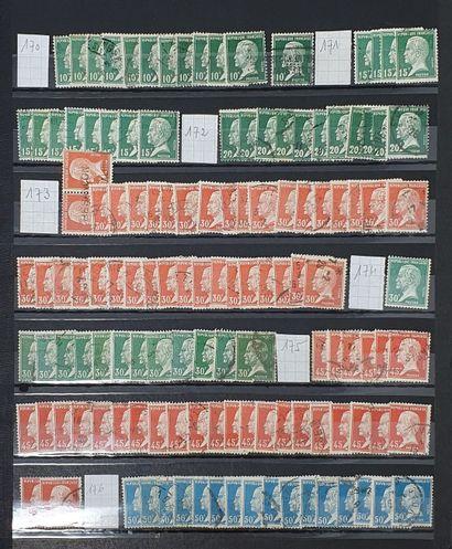 Un stock de France oblitéré par quantité, depuis les classiques jusqu'à la période...