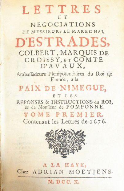 Lettres et négociations du Maréchal d'Estrades,...
