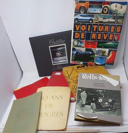 [DIVERS-AUTOMOBILIA]  Lot de volumes Automobilia...