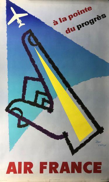 AIR FRANCE  Affiche d'ap. Jean CARLU, sbd....