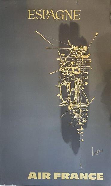 AIR FRANCE par Georges MATHIEU (1921-2012)...