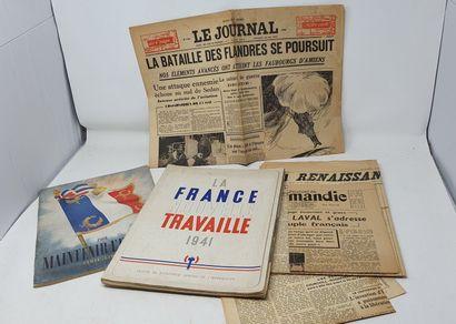 Ensemble de documents et journaux de la Seconde...
