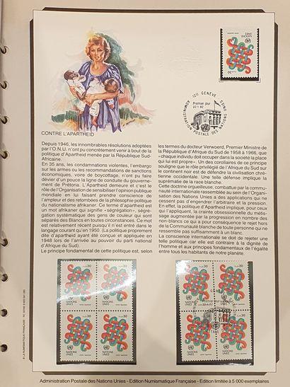 Une collection de France en quatre volumes, des origines à 1984.  Quelques valeurs...