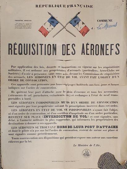 Réquisition des aéronefs commune de Le Mans...