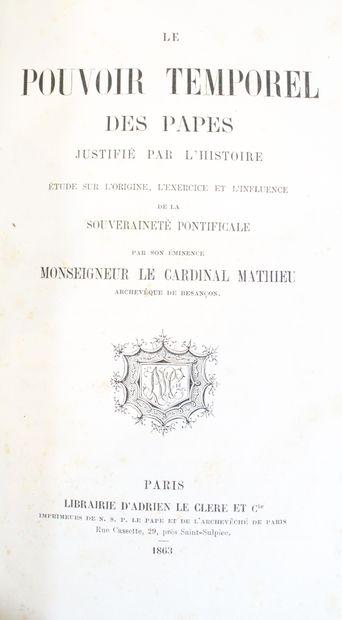 Lot de livres concernant le Cardinal Mathieu...