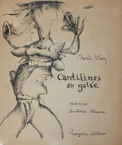 VIAN Boris, Cantilènes en gelée, illustré...