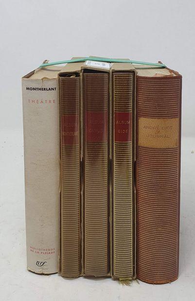 BIBLIOTHEQUE DE LA PLEIADE  5 vol.  GIDE...