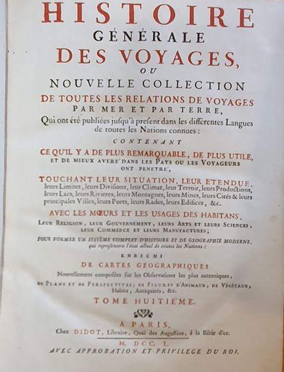 PRÉVOST (Abbé). Histoire générale des voyages....