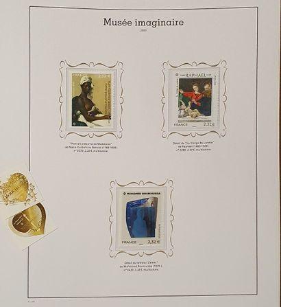FRANCE, ensemble de 6 volumes :  - Deux volumes de monographies : timbres d'usage...