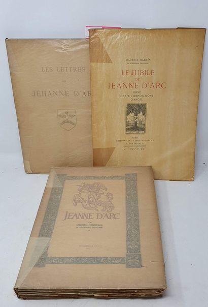 Réunion de trois ouvrages sur Jeanne d'Arc...