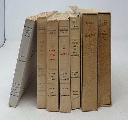 [DIVERS]  Sept ouvrages :  Cinq éditions...