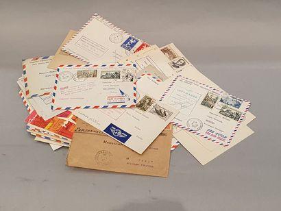 Lot enveloppes courriers aériens