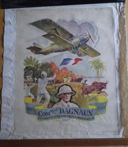 COMMANDANT DAGNAUX 1ère liaison aérienne...