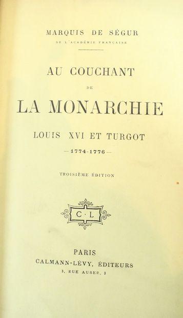 SEGUR (Marquis de), Au couchant de la monarchie,...