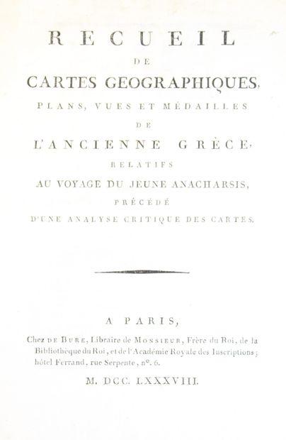 Atlas du voyage d'Anacharsis  Recueil de...