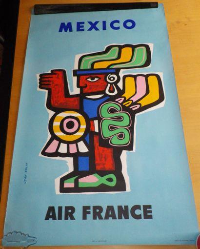 AIR FRANCE  Affiche d'ap. Jean COLIN, sbg....