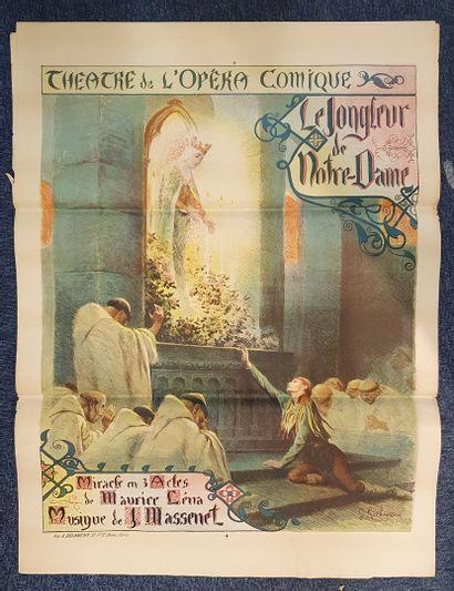 Trois affiches : Le Jongleur de Notre-Dame,...