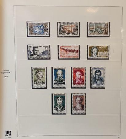 1 classeur Collection de France en 19 volumes safe 1938 - 2019 complet. Timbre,...