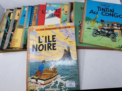 [BANDE DESSINEE]  HERGE - Lot de 13 BD Tintin...