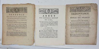 Lot de trois documents XVIIIe relatifs à...