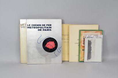 METRO DE PARIS - 7 ouvrages sur le métro...