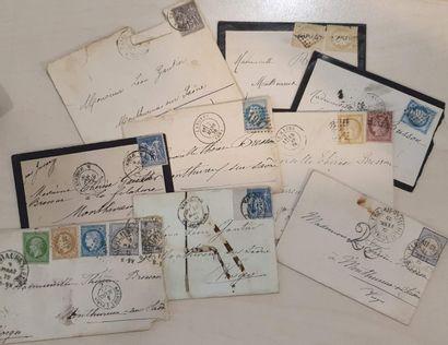 Ensemble de 7 lettres dont Alsace Lorraine....
