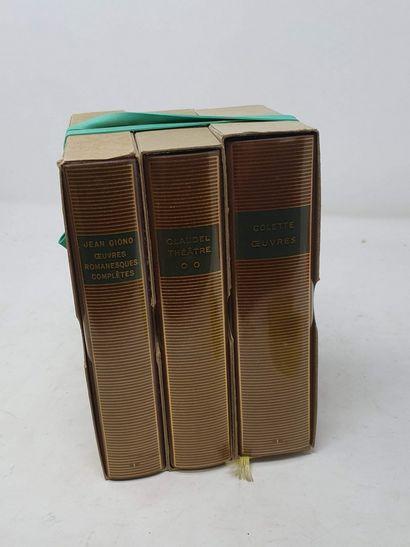 BIBLIOTHEQUE DE LA PLEIADE  3 vol.  COLETTE-...