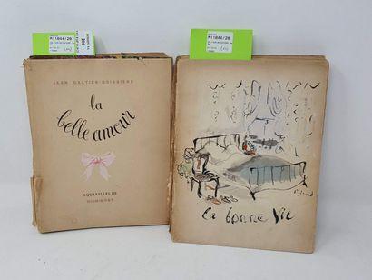 GALTIER-BOISSIERE Jean, 2 vol.  La belle...