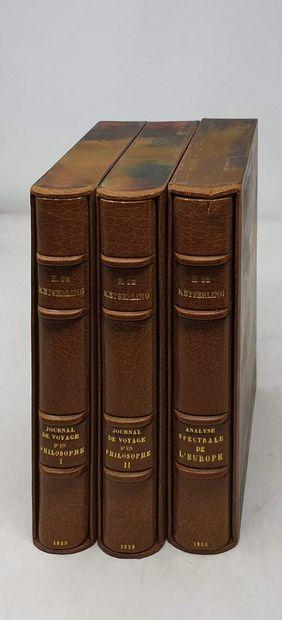 KEYSERLING (Comte Hermann de). Journal de...
