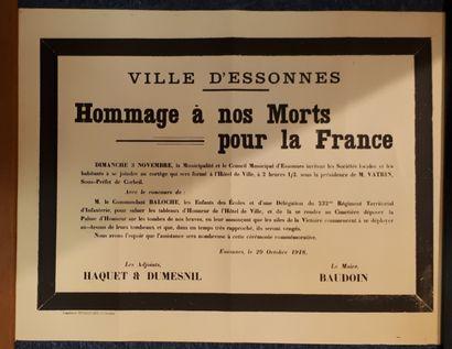 Deux placards Première guerre mondiale :...