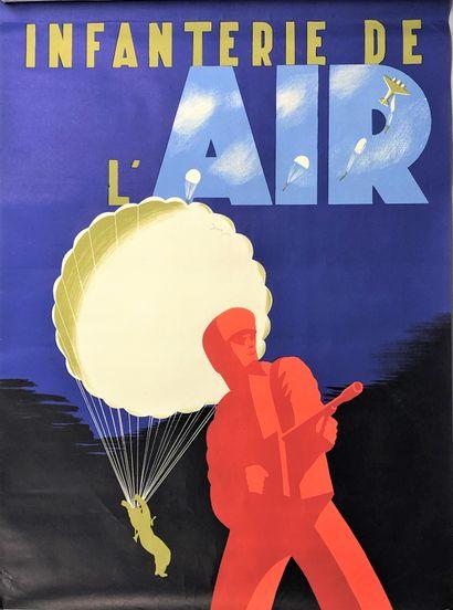 INFANTERIE DE L'AIR  Affiche en couleurs...