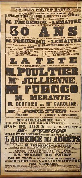 Comédie Française - Frédérick LEMAITRE  Affiche....