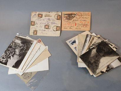 Petit lot de courrier dont Stalag et un chargé...