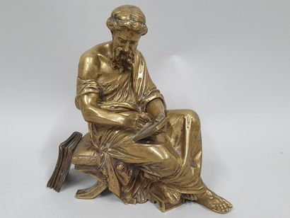 MOREAU (XIX-XXeme)  La loi  Bronze de pendule...
