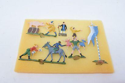 divers ½ Ronde Bosse Allemagne : le Cirque, avec personnages et animaux - dresseur...