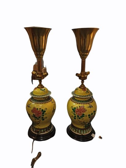 Paire de lampes composées à partir de deux...
