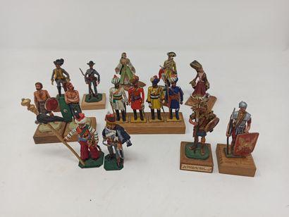 Ensemble de figurines, armées française et...