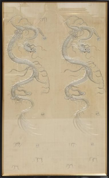 VIETNAM - Vers 1900  Panneau rectangulaire...