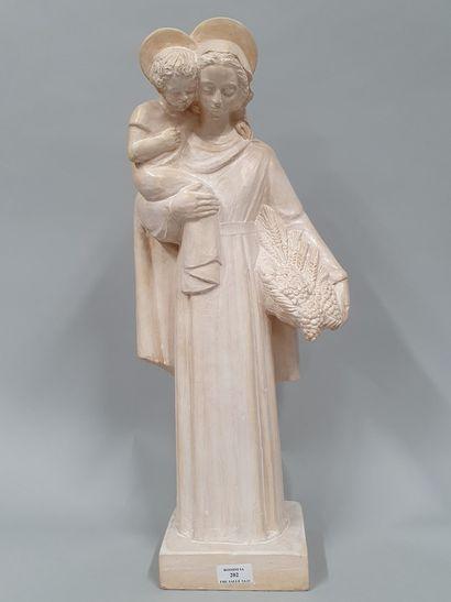 HARTMANN Jacques (1908-1994)  Vierge à l'enfant...