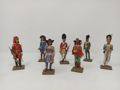 Jacques BEAUFILS (années 50) : Sept figurines...