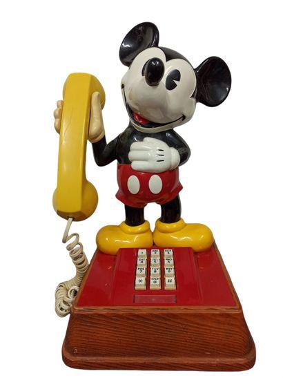 Téléphone fixe à l'effigie de Mickey