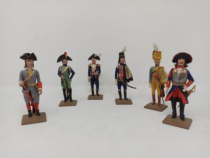 Jacques BEAUFILS (années 50) : Six figurines...