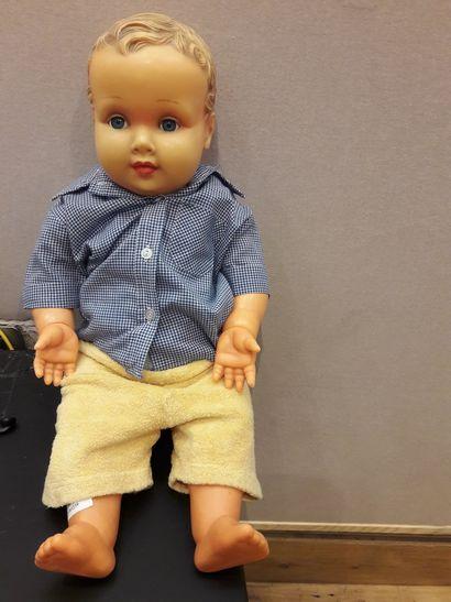 Bébé CONVERT, avec tête et corps en caoutchouc,...