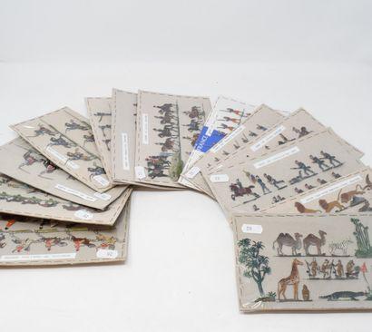 HEINRICHSEN - ALLGEYER : Plats d'Etain : Vingt planches constituées avec animaux...