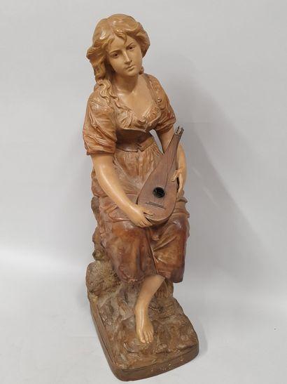 LE GULUCHE Joseph (1849-1915)  Jeune femme...