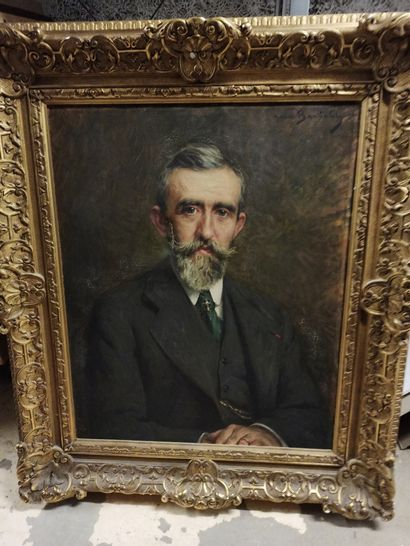 BARTHALOT Marius (1861-1955).  Portrait d'un...
