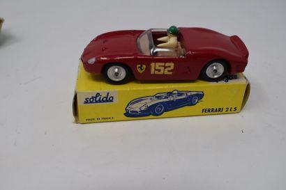 CORGI TOYS - SOLIDO : FERRARI « Berlinetta » 250 - Le MANS, réf. 314 - FERRARI type...