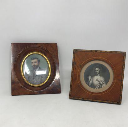 FAURE Aimée (XIX-XX)  Miniature ovale sur...